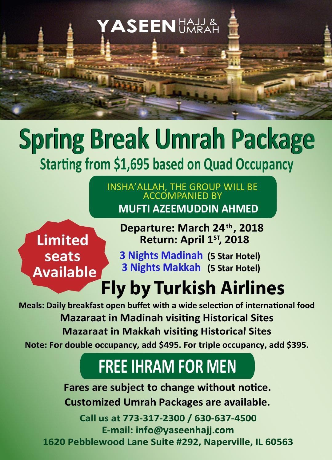 Umrah Banner: Yaseen Hajj & Umrah Tours