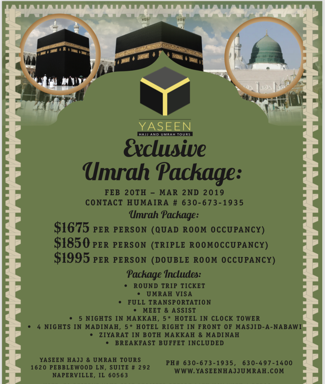 Umrah Package | Yaseen Hajj & Umrah Tours - Special Packages