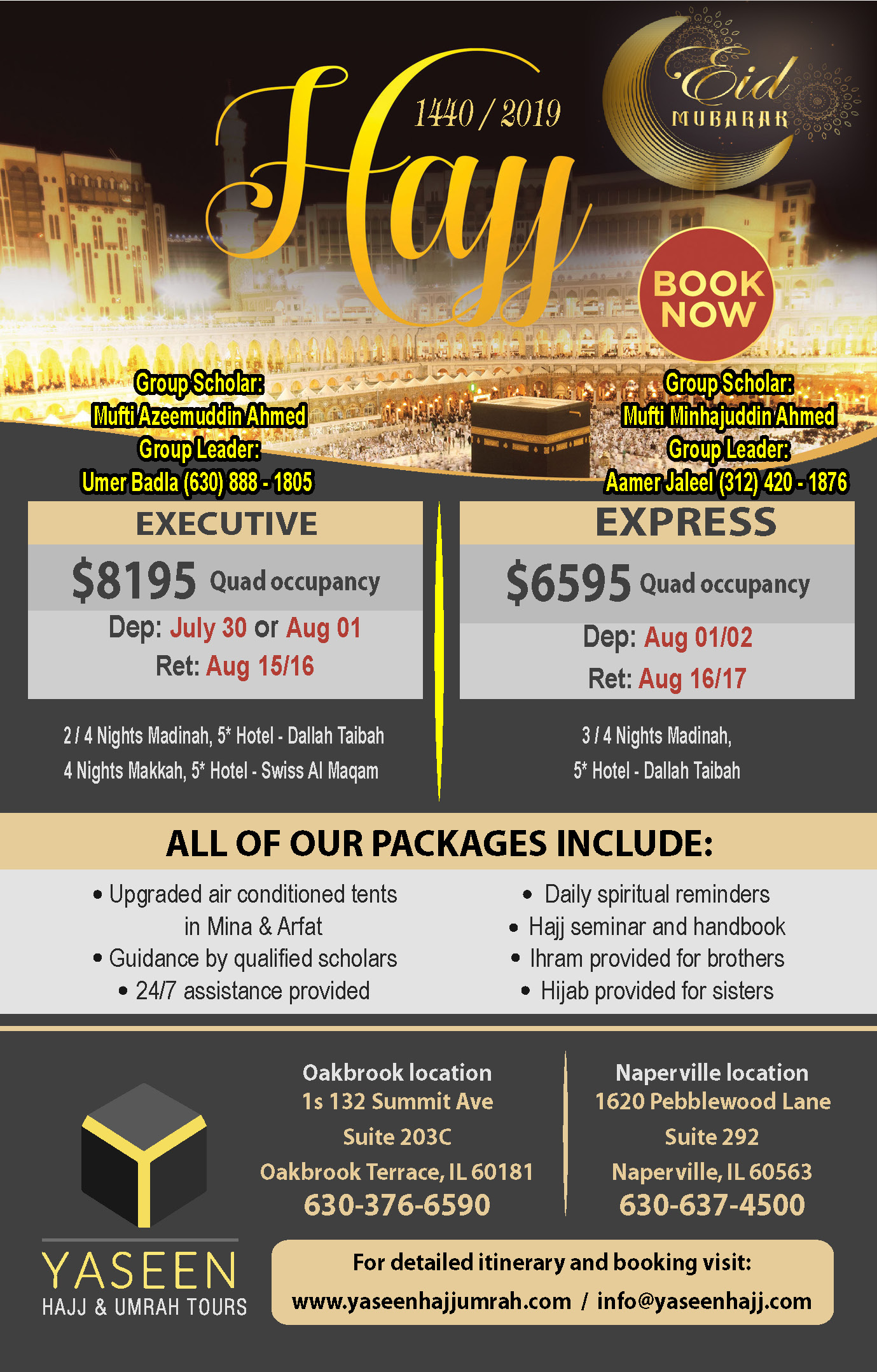 Hajj Packages 2019 | Yaseen Hajj & Umrah Tours
